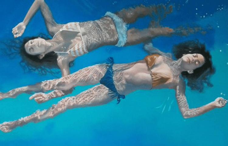 На перший погляд це просто дві дівчини, які плавають. Але придивіться уважніше … і ви не повірите своїм очам!