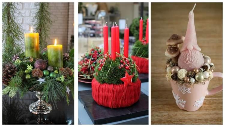 40 найкращих ідей декорування свічок до Зимових свят