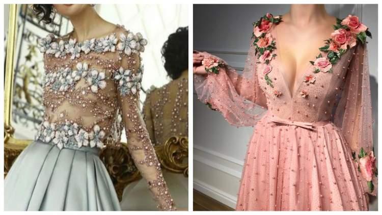Наймодніші сукні з квітковою вишивкою: 30 фото