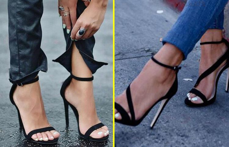 Дами, тримайте себе в руках: 15 пар неймовірно сексуальних чорних босоніжок
