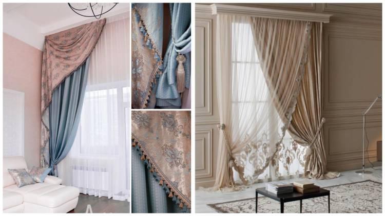 Від класики до модерну: штори і тюль для вітальні (35 фото)