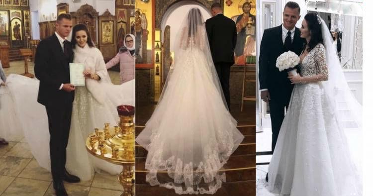 З'явилися перші фото і відео з вінчання і весілля Дмитра Тарасова і Анастасії Костенко