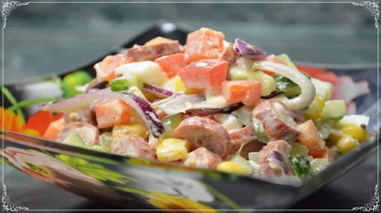 Яскравий і смачний салат «Веселка»: простий у приготуванні
