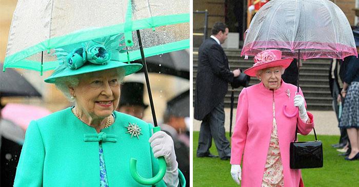 15 доказів того, що парасольки королеви Єлизавети II завжди відповідають її нарядам