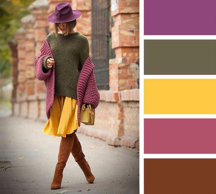 Десять кращих поєднань кольорів в одязі