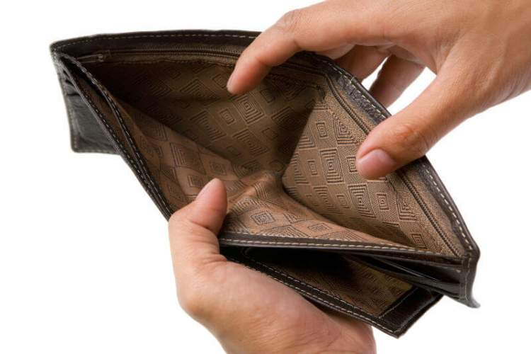 Сталося так, що я залишився зовсім без грошей. Як так сталося?