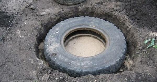 Жінка встановила купу старих шин в своєму дворі, і вразила своєю винахідливістю