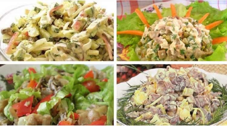 Найкращі грибні салати на будь-який смак. Підбірка з 10 рецептів